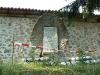 Паметник в двора на църквата