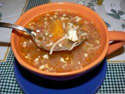 Супа с домати и сирене