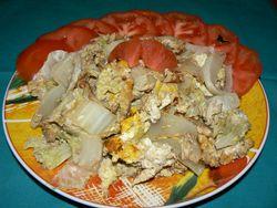 Китайско зеле с яйца
