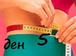 Пети ден на диета