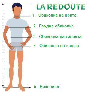 Ла Редут - Размери на мъжки дрехи