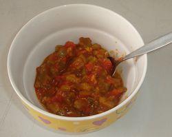 Яхния с домати и пипер