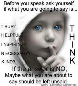 мисли, преди да говориш