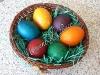 Боядисване на Великденски яйца - едноцветни